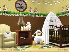 Little Lamb Nursery Set by mensure   http://www.thesimsresource.com/downloads/1161616