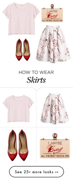 """""""Pretty in Pink"""" by beautifulnoice on Polyvore featuring Mode, Monki, Charlotte Olympia und Cecilia Ma"""