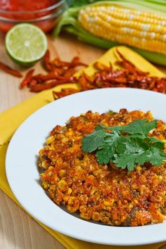 tex mex style corn fritters. i love this for breakfast. serve with 1/2 sliced avocado, fresh salsa, and fried eggs.