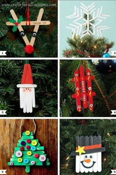 Christmas Craft Creations from pop cycle sticks