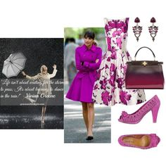 Learn To Dance In The Rain by joybug9 on Polyvore featuring Oscar de la Renta, Two 6 Two, Fendi and Chicnova Fashion