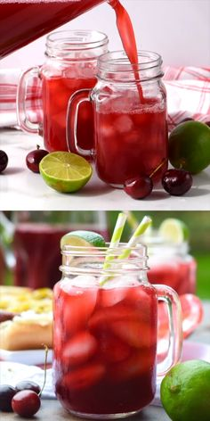 This Cherry Limeade is the perfect kid friendly summer drink! This Cherry Limeade is the perfect kid friendly summer drink! Healthy Eating Tips, Clean Eating Snacks, Healthy Drinks, Easy Alcoholic Drinks, Kid Drinks, Summer Drinks Kids, Picnic Drinks, Summer Drink Recipes, Iced Tea Recipes