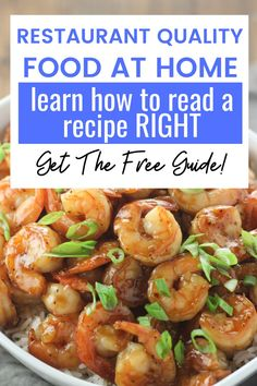 A recipe is like a map. If you don't understand the directions on the map you won't be able to get where you are going. If you don't know how to read the recipe it will be very hard to get the meal you are cooking to turn out the way you want it to. Get the free guide today to become an expert recipe reader and great cook! Tasty Pancakes, Homemade Pancakes, Food Terms, Easy Chicken Recipes, Pasta Recipes, Copycat Cracker Barrel Pancakes, How To Read A Recipe, Berry Chantilly Cake, Making Baked Potatoes
