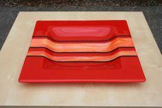 Custom Made Fused Glass Decorative Plate