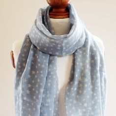 Blue Star Pure Wool Scarf