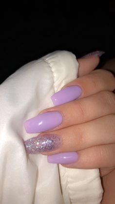 Jan 2020 - cabello fino espesar # The Effective Pictures We Offer You About fake nails wedding A quality picture can tell you many things. You can find the most beautiful pictures that can be presented to you about fake nails aesthetic in this Purple Acrylic Nails, Summer Acrylic Nails, Best Acrylic Nails, Acrylic Nail Designs, Light Purple Nails, Classy Acrylic Nails, Purple Nail Designs, Purple Glitter Nails, Glitter Accent Nails