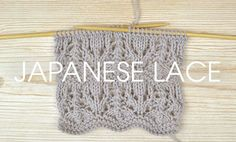 Get inspired with this, our latest Something for the Weekend instalment! Dig out your needles and learn how to knit the Japanese Lace Stitch!