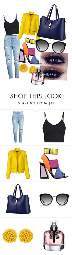 A fashion look from August 2017 featuring v neck tank, lapel jacket and blue denim jeans. Browse and shop related looks. Alexandre Vauthier, Blue Denim Jeans, Fashion Looks, V Neck, Chic, Polyvore, Jackets, Shopping, Shabby Chic