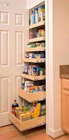 What about Kitchen storage facilities in your house? When I have 49 interesting pictures about this Kitchen storage. Hope can help you to get inspiration furniture in your kitchen. 33 kitchen storage epic and great ideas 43 kitchen storage epic … Kitchen Ikea, Kitchen Pantry, Smart Kitchen, Pantry Closet, Pantry Storage, Kitchen Small, Kitchen Decor, Organized Kitchen, Pantry Doors
