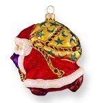 Santa Ornaments Blown Glass Christmas Ornaments, Santa Ornaments, Santa Christmas