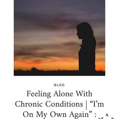 New #ontheblog: Feeling alone with #chronic conditions. . . . . #nofilter #lifeunfiltered #ibd #inflammatoryboweldisease #crohns #colitis #uc #ulcerativecolitis #chronicillness #chroniccondition #invisibleillness #spoonie #blog #blogger #hblog #lifestyleblogger #lbloggers