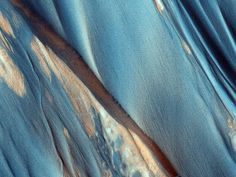 The surface of Mars, via HiRise at uahirise.org.....Sculpted by the Wind