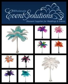 At EventsWholesale.com we have a wide selection of elegant ostrich feather centerpieces at affordable prices. You cannot match our quality for the price anywhere online.