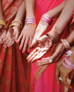 Wedding party henna