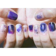 a_m_3_2_#nail#selfnail#selfnailart#naildesign#nailart#polish#polishnail#manicure#ネイル#セルフネイル#ネイルアート#ネイルデザイン#ポリッシュ#ポリッシュネイル#マニキュア#マーブルネイル#グラデーションネイル#パープルネイル