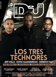 The 3 biggest techno dj's from Detroit. Detroit Techno, Techno Music, Tecno, The Godfather, Electronic Music, Classic Rock, Wasting Time, Reggae, Hip Hop