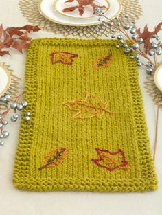 This Leaf Strewn Table Runner is a great small project to decorate your family table during Thanksgiving.