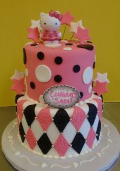 Amazing Hello Kitty Cake for Bachelorette Party by Sugarbuzz Cakes by Carol, AMAZING! Sugarbuzzcakes.com