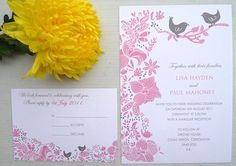 Pink Wedding Invitations  Designed by Kalo   www.kalomakeart.com :)