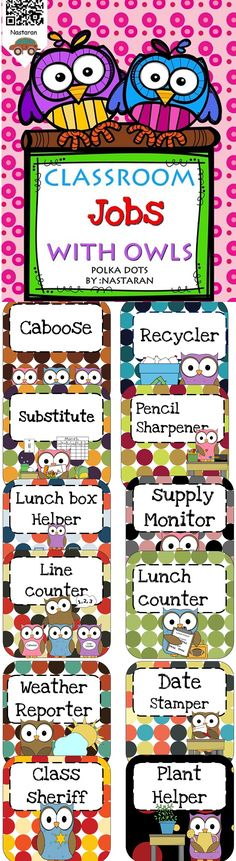 Classroom jobs are an easy and fun way to teach students about responsibility.