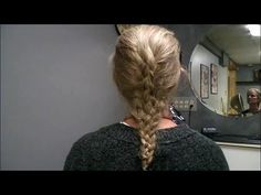 Braiding a FIVE STRAND BRAID. Easy how to step by step instructions on braiding your own hair.