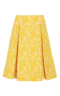 A-Line Invert Pleat Skirt by Oscar de la Renta for Preorder on Moda Operandi