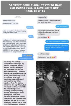 50 Sweet Couple Goal Texts To Make You Wanna Fall In Love Right Now - Page 24 of 50 - Chic Hostess relationships Texts 50 Sweet Couple Goal Texts To Make You Wanna Fall In Love Right Now - Page 24 of 50 Relationship Texts, Relationships, Beautiful Person, Most Beautiful, Couple Goals Texts, Sweet Couple, Up Hairstyles, Falling In Love, Make It Yourself