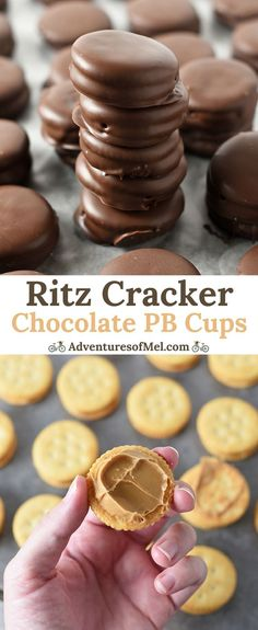 Ritz Cracker Chocolate Peanut Butter Cups, made with Ritz crackers, creamy peanut butter, and melted chocolate. Family favorite holiday candy recipe!