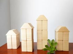 Natural Wooden Blocks Wooden Blocks by BartLOVEskydesign on Etsy, $14.00
