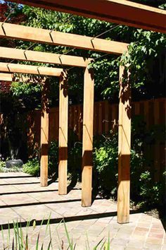 Pergola design - I like the joins, simple                                                                                                                                                                                 More