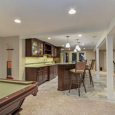 Transitional Basement by Sebring Services