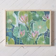 """This is a signed copy of an original work from my Aquatic Plantseries printed on100lb cover stock.To see an update on what new work is entering the shop you can check out my Instagram!All printsship out of my studio in Charleston, South Carolina.If you are outside of the US, you can contact hello@luliewallace.comwith your shipping addressand we'll get back to you with a shipping quote!______    Dimensions: 18 x 24"""""""