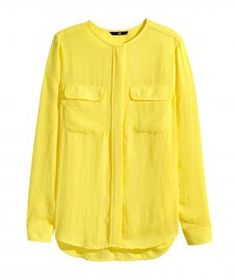H&M Airy Blouse Yellow: Pair this flowy top with slacks and heels to freshen up a tired work wardrobe. On weekends, wear it with skinny jeans and flats or a cute pair of shorts. Available in four colors.