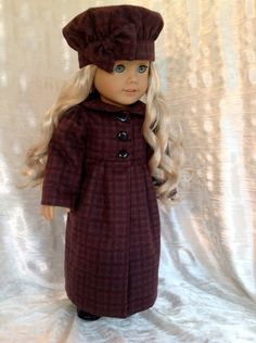 Flannel+coat+and+hat+for+your+American+Girl+by+DollSizeDesigns