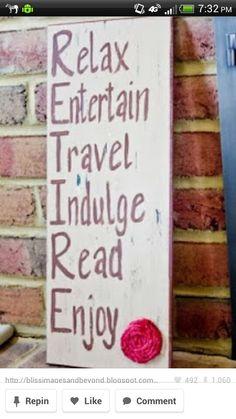 Relax, Entertain, Travel, Indulge,  Read, Enjoy = Retire Investing for retirement http://vreinvest.com