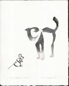 Cat & Mouse Calligraphy Art by Margaret Shepherd Word Art, Cat Mouse, Art Graphique, Grafik Design, Art Plastique, Crazy Cats, Cat Art, Hand Lettering, Art Photography