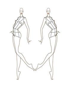 Female Fashion Figure Croqui 041