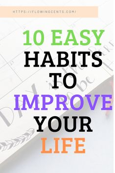 Try These 10 super-easy Habits to live a better life Now! Habits to Start Today & Boost your Productivity! Money Tips, Money Saving Tips, Healthy Habits, Healthy Life, Money Problems, Mental Health Care, Habits Of Successful People, New Year New You, Lifestyle Group
