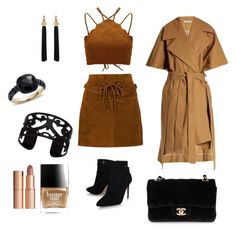 """Untitled #108"" by kameliya-6711 ❤ liked on Polyvore featuring Faith Connexion, palmer//harding, Chanel, Yves Saint Laurent, Pomellato, Lisa August, Charlotte Tilbury and Butter London"