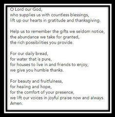 Get here the Thanksgiving prayer for the family. We have collection of short, long and printable thanksgiving prayers by family at dinner Printable Cards, Printables, Our Daily Bread, Taken For Granted, Thanksgiving Prayers, Lord, Pure Products, Motivation, Dinner