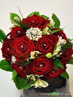 Green Art Florist Dublin 2  Deluxe Bouquet with Brooches  http://www.greenart.ie/shop/heirloom_brooch_bouquets/deluxe_bouquet_with_brooches/1248/product.html