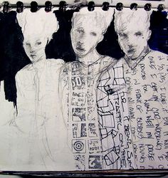 journal art -sisters by Joe Carreon, via Flickr