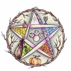 In days past, Pagan folks would paint a pentagram or five pointed star on their barns or hang one on or near there front door to let Pagan travelers know that they were welcome in there home for a meal and/or a bed for the night, never asking for anything in return for their hospitality. ╰☆╮skymomma╰☆╮