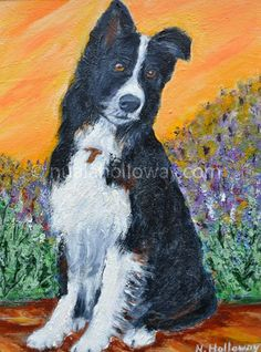 """Walkies?"" by Nuala Holloway - Oil on Canvas #IrishArt #DogArt #Collie"