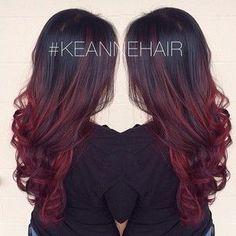 Ombré hair cerise : la couleur tendance pour les brunes - 22 photos - Tendance coiffure