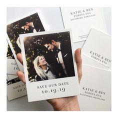 Polaroid wedding - Love the Polaroidinspired 'Save The Date' idea, created by 💞bridesjournal weddingstationery weddinggoals chicbride… Marie's Wedding, Wedding Goals, Wedding Guest Book, Wedding Cards, Wedding Planning, Wedding Ideas, Wedding Dresses, Elegant Wedding, Rustic Wedding