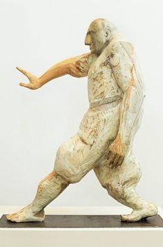 Art from Spain - Francisco Leiro Lois - 1957 Pontevedra. Human Sculpture, Modern Sculpture, Wood Sculpture, Garden Sculpture, Sculpture Ideas, Karate, Neon Words, Postmodernism, Wood Carving