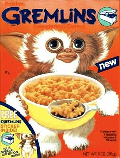 Gremlins 80's cereal - I remember eating this, but don't remember where... probably at my grandparents' house or a friend's house. Not the kind of thing my mother usually bought!