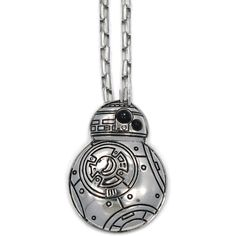 Han Cholo The BB-8 Pendant in Silver (120 BRL) ❤ liked on Polyvore featuring men's fashion, men's jewelry, men's necklaces, necklaces, jewelry, silver, star wars, mens silver necklace, mens pendant necklaces and mens silver box chain necklace