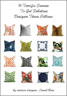 The Little Known Truth About Throw Pillows - laurel home | who knew that throw pillows could be so problematic. Well, I spell it all out here. Everything that can go wrong and how to get it right. (plus the links to 16 fabulous sources!)